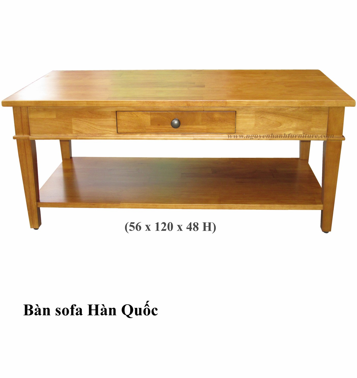 Name product: Sofa table Korea - Yellow Color - Dimensions: 56 x 120 x 48 - Description: Wood natural rubber